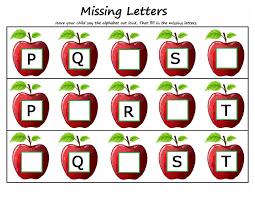 printable missing letters quiz worksheets for kids activity kindergarten missing letters 4