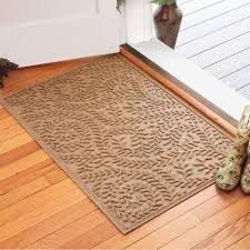Non Slip Mat For Laminate Flooring Bungalow Flooring Indoor Outdoor Water Guard Boxwood Leaf Mat