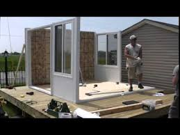 Sunrooms For Decks How To Install An Insulated Sunroom With 6 People Youtube