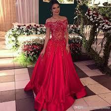 sale a line red prom dresses 2017 vestidos de festa vestidos