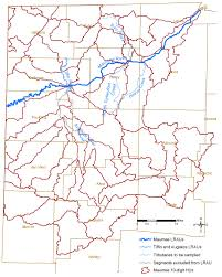 Ohio Rivers Map by Maumee River
