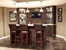 Home Wet Bar Decorating Ideas Tile Brick Wall Behind Bar Basement Pinterest Bricks Bar