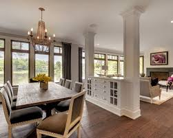 Glass Partition Between Living Room And Kitchen Between Living And Dining Room Houzz