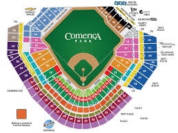 Lsu Parking Map Comerica Park Seating Map Mlb Com
