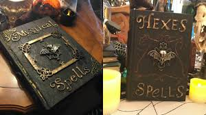 halloween photo book how to make halloween spell books diy she u0027s in her apron youtube