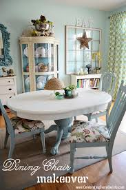 How To Recover A Dining Room Chair Easily Celebrating Everyday - Painting dining room chairs