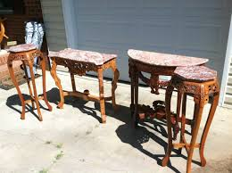 Marble Entry Table 4 Piece Hand Carved Marble Top Table For Sale Antiques Com