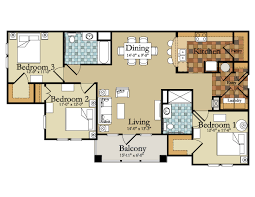 14 best images of modern 3 bedroom apartments floor plan small 3