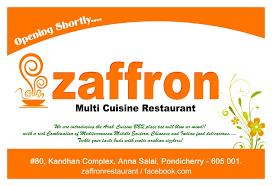 what is multi cuisine restaurant zaffron multi cuisine restaurant pondicherry white town food