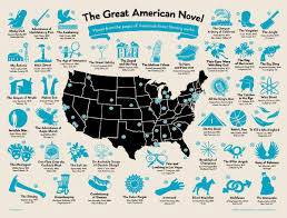 New Orleans On Map Great American Novel Map Hog Island Press