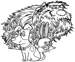 pets coloring page the secret life of pets coloring pages to download and print for free