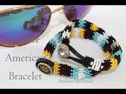 beading leather bracelet images Native american style bracelet seed beads leather cord jpg