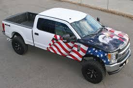 American Flag On Truck Visual Horizons Custom Signs Since 1995