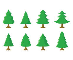 free tree set vector graphics freevector