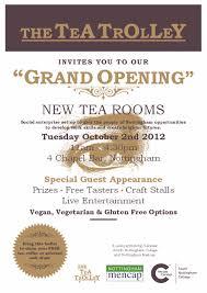 Invitation Card Grand Opening Tea Trolley U0027grand Opening U0027 Nottingham Community Cafe Network
