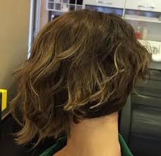 curly blunt cut short hair cuts back view 50 amazing and awe inspiring asymmetrical bobs