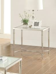 coaster company satin nickel coffee table coaster 703347 end table satin nickel 703347 at homelement com