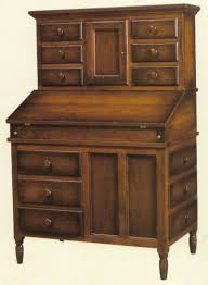 Secretary Desk And Hutch by Amish Shaker Secretary Desk