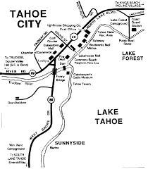 Tahoe Map Lake Tahoe Area Maps Detailed Lake Tahoe Area Map By Region