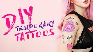 diy temporary tattoos by tashaleelyn youtube