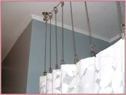 Nemesis Indoor Outdoor Curtain Rod by Ceiling Mounted Curtain Rods Home Decorations Ideas