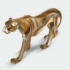 european style vintage leopard sculpture ornaments home
