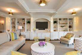 Living Room Built In Living Beach House Beach Style Living Room New York By Heather