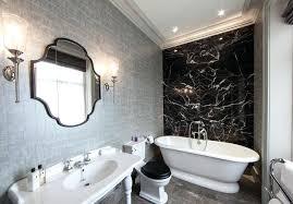 Wallpaper Bathroom Ideas Textured Bathroom Wallpapercontemporary Marble Tile Freestanding