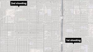 Map Of Shootings In Chicago by Shootings In South L A And Carson Leave 4 Dead At Least 4
