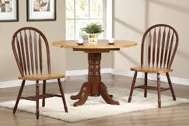 Oak Table With Windsor Back Chairs Sunset Trading 3pc 42 U2033 Round Drop Leaf Dining Set With Arrowback
