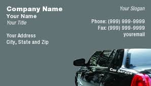 Car Name Card Design Template At82320 Taxi
