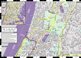 Nyc Subway Map With Street Overlay by Streetwise The Bronx Map Laminated City Center Street Map Of The