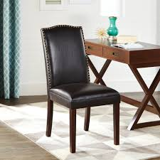 Brown Leather Accent Chair Better Homes And Gardens Faux Leather Accent Chair With Nailheads