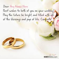 beautiful marriage wishes wishes for anyone with name