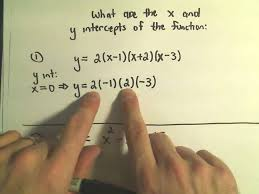 x intercepts and y intercepts of a functions and finding them