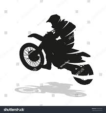 motocross bike finance motocross racing abstract vector silhouette motocross stock vector