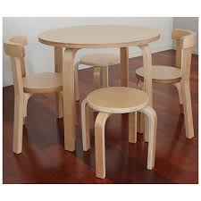 childrens table and stools wooden kids table 2 chairs 2 stools wooden kids table set