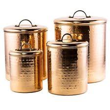 copper kitchen canister sets copper canisters ebay