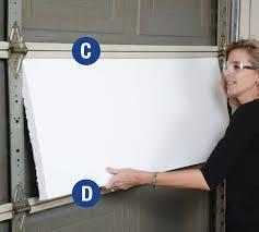 Interior Door Insulation Diy Garage Door Insulation Kit Installation Instructions