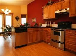 Kitchen Color With Oak Cabinets by Small Open Area For Calm Kitchen Paint Colors With Oak Cabinets
