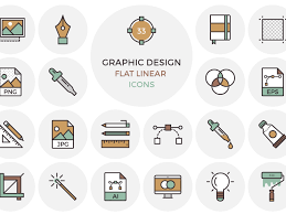 design icons 33 flat graphic design icons by inspirationfeed dribbble