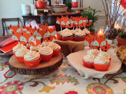 cupcakes at fox themed baby shower successes pinterest