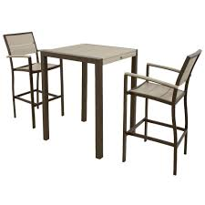 City Furniture Patio by Trex Outdoor Furniture Surf City Textured Bronze 3 Piece Patio Bar