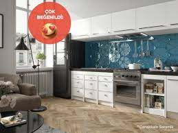 tiles backsplash kitchen backsplash ideas houzz kalebodur tile parlak petrol mavi rengiyle tezgah arası kullanıma yeni bir soluk