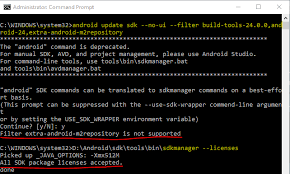 android build tools build failed with an exception while using android studio 2 3
