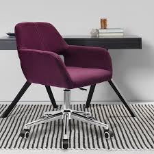 Purple Computer Chair Boss Office Purple Chair Computer Game Stool Linen Seat Green Blue
