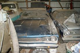 Barn Finds Cars Coronet R T In The Tractor Shed And A Chicken Crossing The Road