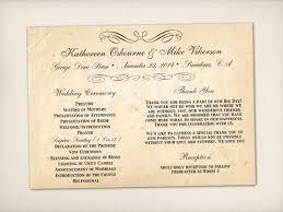 Thank Yous On Wedding Programs Vintage Bells And Co U2013 Vintage Bells U0026 Co