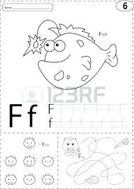 printable worksheet for 3 year olds printable alphabet worksheets for 3 year olds cartoon fish face and