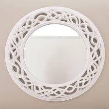 cream twisted round mirror round mirrors rounding and cream twisted round mirror